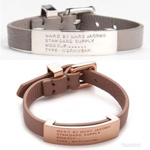 Marc Jacobs Standard Supply Leather ID Bracelet